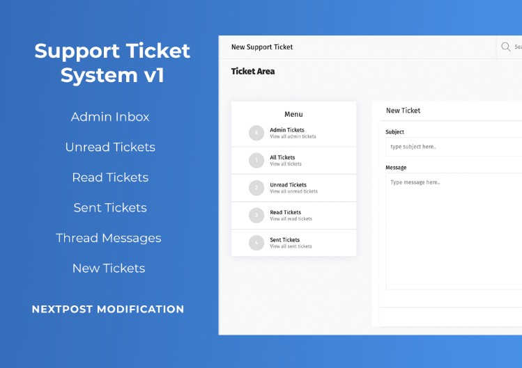 Support Ticket System For Nextpost