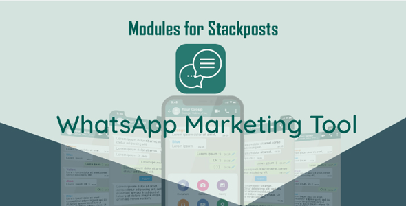 Whatsapp markteting tool module for Stackposts
